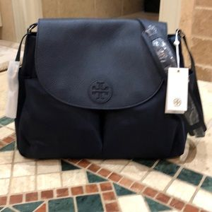 Authentic Tory Burch leather messenger bag
